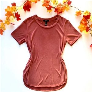 F21 Velvet Soft High Low Tee - size small